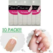 French Manicure Guide Tips Striping Tape Sticker Pedicure Nail Art DIY *10 PACK*