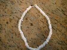 "Seashell Puka Sea Shell Necklace White Beach Surfer Choker 18"" Genuine Original"