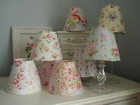 **GORGEOUS VINTAGE STYLE CHIC**FLORAL  CANDLE LAMPSHADES  CATH KIDSTON/FLORALS