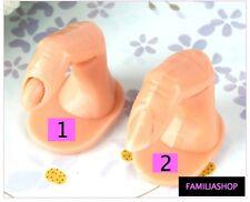 2 Doigt d'entrainement pose faux ongles capsules nail art  monomer acrylique