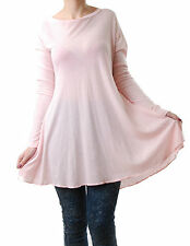 Wildfox Women's Victorian Crew Dress Long Sleeve Open Back Pink Size S BCF512