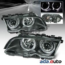 1999-2001 BMW E46 3 Series 323i 328i [LED Halo] Projector Black Headlights Pair