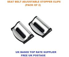 SILVER LAND ROVER SEAT ADJUSTABLE SAFETY BELT STOPPER CLIP CAR TRAVEL 2PCS