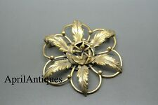 Vintage Joseff of Hollywood gold-plated flower brooch