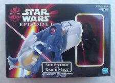 "SITH SPEEDER and DARTH MAUL Star Wars Episode I 4"" figure vehicle Hasbro 1998"