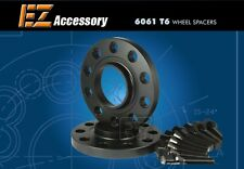 Black Billet Hub Centric Wheel Spacers BMW 12mm with Extended Lug Bolts