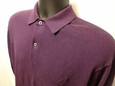 Men's Nautica Purple Polo Rugby Sweater 100% Pima Cotton Sz M