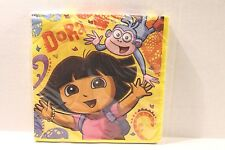 "Dora the Explorer Birthday Party Napkins 13"" x 13"" Package of 16"