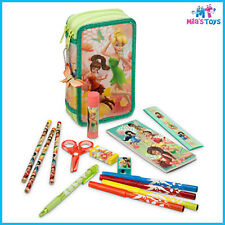 Disney Fairies Zip-Up Stationery Kit TinkerBell Pencil Case Fawn Silvermist