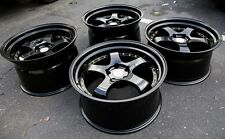 Aodhan Ah03 19X9.5/11 5X114.3 +22 Black Rims Fits 350Z 370Z G35 Coupe (Used Set)