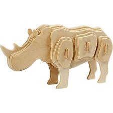 3D Rhino Kit de construction-le bois Craft-Auto Assemblage Puzzle-Cadeau Décoration