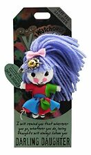 "Watchover VOODOO DOLL Keychain, DARLING DAUGHTER, Love You Daughter, 3"" Tall"