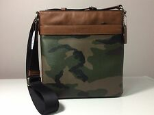 Coach Charles Print Coated Canvas Green Camouflage Crossbody Bag F55070