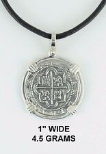 Recreation Pirate 1622 Pendant Reale Bezel Silver 2 Piece Of Eight