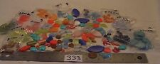200 Mix Vtg Moonglow Thermoset Plastic Lucite Flat Back Beads Jewelry Repair Lot