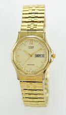 Citizen Quartz Men's Gold Stainless Steel Stretch Band WR Quartz Day Date Watch