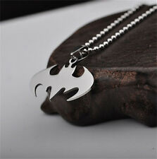 1Pcs Batman Superhero Pendant Necklace Steel Chain Fashion Stainless Men
