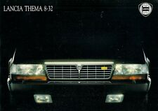Lancia Thema 8.32 1989-91 UK Market Sales Brochure