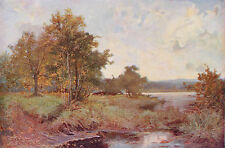 SIR ALFRED EAST 1887 Oil Painting AUTUMN Vintage 1930 Landscape Art Book Print