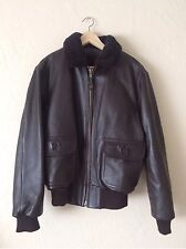 New Authentic G-1 Leather Navy Flight Jacket by Gov. Contractor Oxford, SIZE 52