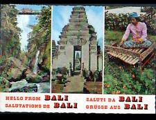 BALI (INDONESIE) MONUMENT & MUSICIEN avec INSTRUMENT de MUSIQUE TRADITIONNEL