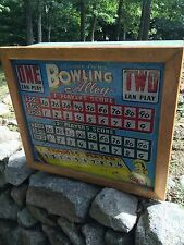 Vintage Chicago Coin Bowling Alley Glass & Parts Bowler Arcade Pinball Game
