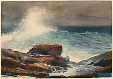 Winslow Homer Watercolor Reproductions: Incoming Tide, Maine: Fine Art Print