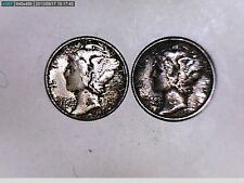 1927 And 1941 Mercury One Dime Coins (Great)