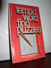 Tempo Word Find Puzzles #7 by E.D.MacDougall (Rempo#5756, 1974,Paperback)
