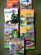 LOT OF 7 VEGGIE TALES VHS - Peer Pressure, Obedience, Sharing.....  Ages 3 to 8