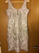 Phase Eight Oyster Lace Tapework Dress Size 12