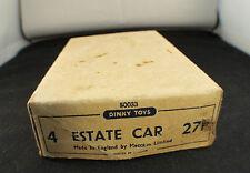 Boite seule Dinky Toys GB n° 27F Estate car boite revendeur de 4 Box only
