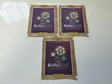 Panini Euro 2012 Set of 3 Brazil Version - Bustina sigillata - Sealed Pack *MINT