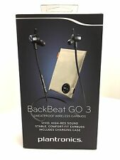 Plantronics Backbeat Go 3 Bluetooth Wireless Headphone with Charging case