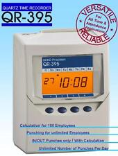 QR 395 Calculating Time Recorder Clocking in Machine SEIKO QR395