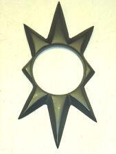NOS VTG TRIMCO 100 STARBURST DOOR ESCUTCHEON, SCHLAGE, FLAT BLACK CAST