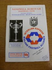 04/10/1997 Sandwell Borough v Meir Kings Arms [FA Vase] . Thanks for viewing our