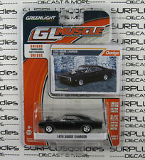 GREENLIGHT 1:64 2016 GL Muscle Release 17 Black 1970 DODGE CHARGER Blower Motor