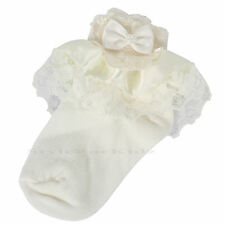 BABY GIRLS FRILLY LACE SOCKS CHRISTENING WEDDING PARTY OCCASION SOCKS