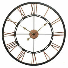 Metal Skeletal Wall Clock - Large, 70cm