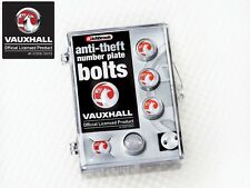 Richbrook Official Licensed Vauxhall Logo Car Van Anti-Theft Number Plate Bolts