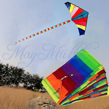 10M Super Nylon Rainbow Kite Tail Line Colourful Accessory Kids Toy Hot Z