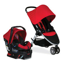Britax 2017 B-Agile 3 Stroller & B-Safe 35 Infant Car Seat Travel System in Red!