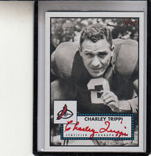 2006 TOPPS HERITAGE IN THE CARDS CHARLEY TRIPPI /56 RED AUTOGRAPH AUTO