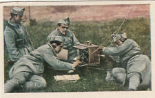 N°36 French Soldiers Feld Telegraphe-Station World War Germany WWI 30s CHROMO
