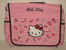 VERY CUTE!! HELLO KITTY PINK MESSENGER TOTE BAG SANRIO LICENSED BRAND NEW!!