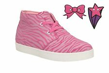 Girls Clarks Ankle Boots Pattiefizz Inf Suede Pink  UK Size 4