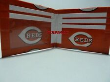 HANDMADE DUCT TAPE WALLET WITH THE CINCINNATI REDS LOGO ON IT