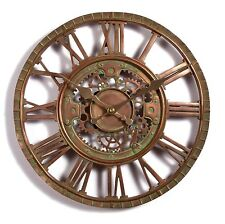 Outdoor indoor Garden Wall Clock Copper Plate Effect, 30cm Slate Effect 1116