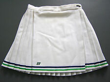 Yonex Tennis Sports Skirt Small W26 in. White Blue Green Pleated Vtg # ITAx381